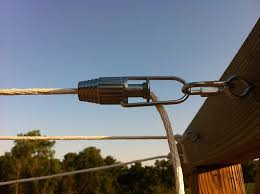 DIY Clothesline with these great <b>little</b> gadgets -line <b>tightener</b> hardware.