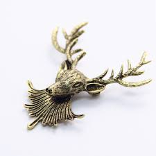 online get cheap christmas gift coupons aliexpress com alibaba vintage metal moose head brooch brooches pin men j
