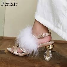 <b>Perixir Woman</b> Sexy <b>High Heel</b> Leopard Fluorescent Fluffy Fur ...