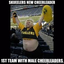 Skueelers new cheerleader 1st team with male cheerleaders - Dumb ... via Relatably.com