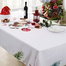 <b>Christmas Printed</b> Fabric Tablecloth ,Oil-Proof and <b>Waterproof</b> ...