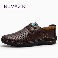 Genuine Leather <b>Men</b> casual <b>shoes Summer 2018</b> Breathable Soft ...