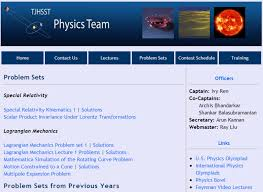 physics team wraps up successful year tj physics team officers help members prepare for competitions through lectures problem sets and more