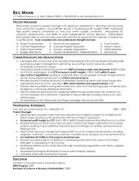 manufacturing project manager resume examplemanufacturing manager resume example