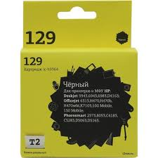 <b>Картридж T2 ic</b>-<b>h9364</b> (№129) <b>Black</b> для HP DJ 5943/943/6983 ...