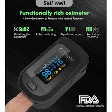 <b>Finger Clip</b> Pulse Oximeter Blood Oxygen Monitor <b>Finger</b> Pulse ...