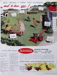 1953 simplicity garden tractor roto tiller lawn croquet 🔎zoom