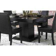 dining sets images black piece  cicero modern black square pedestal dining table
