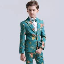 2018 winter nimble boys suits weddings kids prom floral wedding tuexdo children clothes boy formal classic