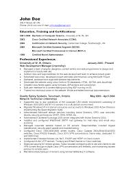 cover letter resume sample for server resume sample for server cover letter resume for server resume format pdf others perfect education training and certifications network administrator