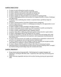 finance resume objective statements examples httpresumesdesigncomfinance example of an objective in a resume