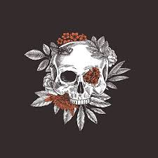 <b>Floral Skull</b>. <b>Vintage</b> Floral Skeleton. Vector Illustration Royalty Free ...
