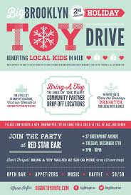 best images about toy drive christmas parties big brooklyn holiday toy drive poster