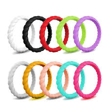 Girl <b>Simple Fashion Silicone Ring</b> Multi-color Finger <b>Ring</b> Daily Life ...