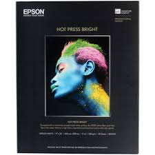 <b>Epson Hot</b> Press Bright Fine <b>Art Paper</b> | B&H Photo Video