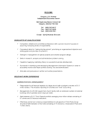 Business Owner Resume Sample  resume exmaples  small business     sasek cf