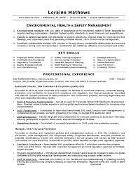 environmental health  amp  safety sampleenvironmental health  amp  safety sample resume