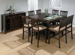 dining table cream varnished: table set b dining room round brown varnished wooden dining table