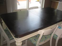 Restaining Kitchen Table Refinishing A Veneer Tablea Tutorial Fabulously Flawed