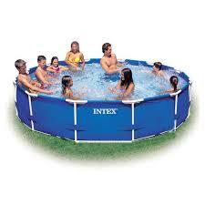 Купить <b>каркасный бассейн Intex</b> Metal Frame <b>28210</b> в интернет ...
