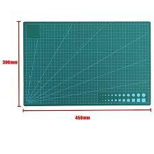 <b>A2</b>/<b>A3</b>/<b>A4</b> Green <b>Self-healing</b> Gridded <b>Cutting</b> Board <b>PVC Cutting</b> ...