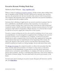executive resume writing made easyexecutive resume writing made easy written by kate williams   http   rapidhire