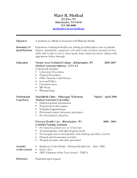 medical assistant resume sample experience resumes medical assistant resume sample 2016