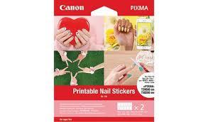 Печатные <b>наклейки для ногтей</b> Canon Nail Stickers NL-101