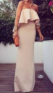 <b>Sexy</b> Strapless Flounce Backless <b>Solid</b> Color <b>Dress</b> For <b>Women</b>