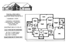 Bedroom  Story House Plans     square feet Bedroom Story   Bathrooms  Family Room  Dining Room  Breakfast and Car Garage   square feet