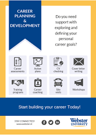 career planning development webster university leiden make an appointment