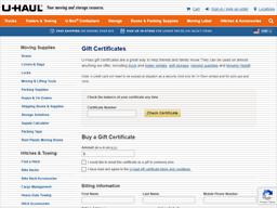 U Haul | Gift Card Balance Check | Balance Enquiry, Links ...