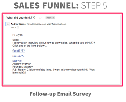 the exact s funnel that andrew warner uses and how you can do  it39s a followup survey to gauge the helpfulness of the information notice the subtleties of what he did this email