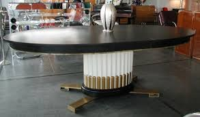 oval dining table art deco:  paul frankl table  paul frankl table base art deco dining
