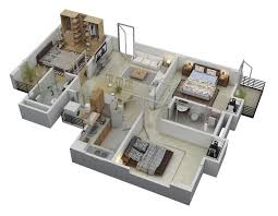 "Three "" "" Bedroom Apartment House Plans   Architecture  amp  Design    bedroom floor layout of houses"