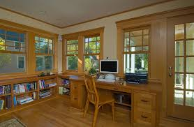 craftsman style windows home office traditional with bookcase bookshelves built in arts crafts home office