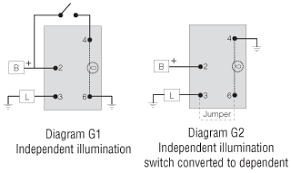 switch wiring diagrams littelfuse Wiring A Dpdt On Off On Toggle Switch switches with one pilot light spst off on Dpdt Toggle Switch Wiring Diagram for Stereo Input