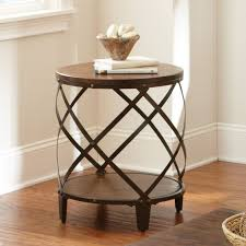 end tables designs have to it steve silver winston distressed tobacco wood and round metal table brass and metal furniture