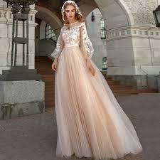 Online Shop <b>LORIE</b> Plus Size Long Sleeve Lace Wedding Dress ...