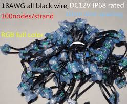 18AWG wire 100pcs/string DC12V square type WS2811 ...