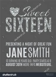 sweet sixteen glitter party invitation flyer stock vector sweet sixteen glitter party invitation flyer template design