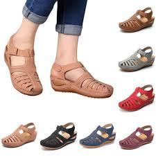 <b>2020Women</b> Ladies Fashion Hollow <b>Sandals</b> Pu Leather ...