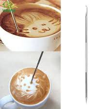 <b>1PC</b> Stainless Steel <b>Latte</b> Art Pen Barista <b>Cappuccino Latte</b> ...