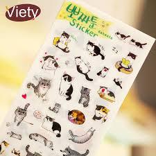<b>6 pcs/lot cute cat</b> PVC paper sticker diy planner decorative sticker ...