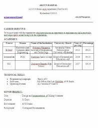fresher resume format for mca student resume format btech eee resume format for mca student