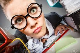 workaholism mental insanity weird job work company concept insane stock photo workaholism mental insanity weird job work company concept insane office w at work mad secretary making silly expression lurking through
