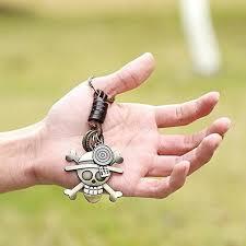 Retro Alloy <b>Braided</b> Leather <b>Skull</b> Keychain