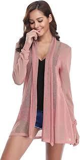 Abollria Waterfall Cardigan for <b>Women Summer Sheer</b> Lightweight ...