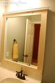 brown wooden frame bathroom wall