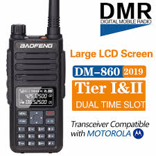 <b>BAOFENG DM 1801</b> DM 860 Digital <b>Walkie Talkie</b> slot TierI II tier2 ...